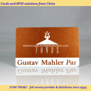 Glittering Printed PVC Magnetic Stripe Card for Previliege Membership pictures & photos
