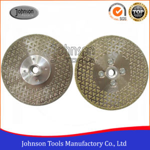 105-300mm Double Sides Triangle Dots Electroplated Diamond Saw Blades for Marble and Granite Cutting pictures & photos