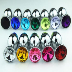 Leadove@ Whole 100PCS/Lot Stainless Crystal Butt Anal Plug 13 Color Jewelry Small Size Butt Plug Anal Sex Toy GS0021 pictures & photos