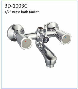 Bd1003c Double Handles Brass Bath Faucet pictures & photos