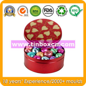 Round Chocolate Tin with Food Grade, Chocolate Can pictures & photos