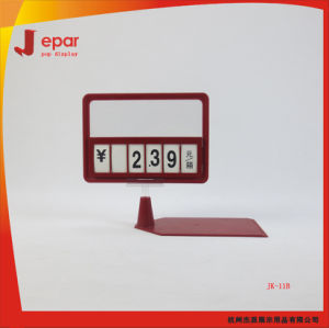 Supermarket Plastic Advertising Display Price Stand pictures & photos