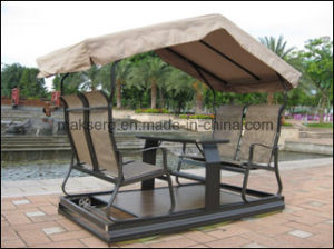 Modern Style Leisure 4-Seats Outdoor Aluminum Swing pictures & photos