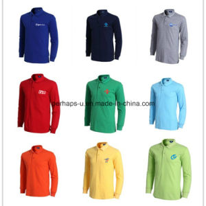 Fashion Customized Printing Men Polo Shirt Work Wear Long Sleeve pictures & photos