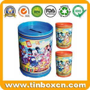 Round Tin Saving Box, Metal Coin Bank Money Box pictures & photos