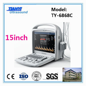 LCD Touch Screen Portable Color Doppler Ultrasound Scanner pictures & photos