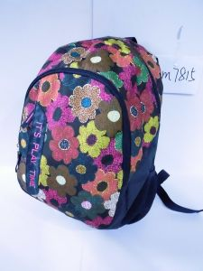 Women/Female/Girls Outdoor Double Shoulder Backpack Bag with Printed Calico Flower pictures & photos