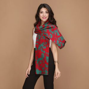 Newest Fashion Red Silk Scarf pictures & photos