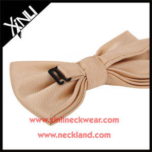Jacquard Woven 100% Silk Custom Nude Color Bow Tie pictures & photos
