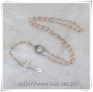 Hot Sell 6mm Plastic Beads Rosary with Photo Connector Fatima, Papa Francisco (IO-cr382) pictures & photos