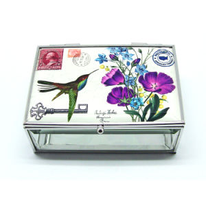 New Chinese Glass Custom Velvet Ring Jewelry Box Hx-7097 pictures & photos