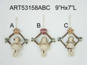 Holiday Angel on Swing Christmas Decoration-3asst. pictures & photos