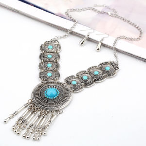 Fashion Vintage Alloy Tassel Rhinestone Beads Statement Necklace Jewelry pictures & photos