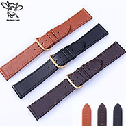 Black Brown Colors PU Leather Watch Band 16 18 20 22 24mm