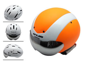 Professional Bicycle Helmet safety Hemet with Glasses for Road Bike pictures & photos