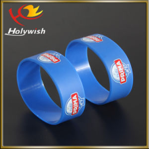 Custom Identification Wristband Silicone Silkscreen Logo for Party