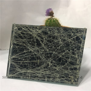 5mm+Silk+5mm Laminated Glass/Sandwich Glass/Art Glass/Tempered Glass/Safety Glass for Decoration pictures & photos