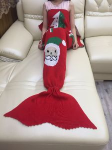 Knitted Sea-Maid Mermaid Tail Blanket Fish Tail Shape Blanket pictures & photos