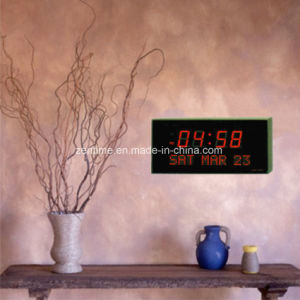 Electronic LED Large Digital Wall Clock Showing Time/Day of Week/Date pictures & photos