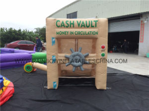 Customized Promotional Inflatable Cash Money Grabbing Machine Game for advertisement pictures & photos