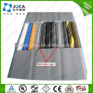 PVC Insulated Flat 24 Cores 0.75mm2 VDE Certificated H05vvh6-F Cable pictures & photos