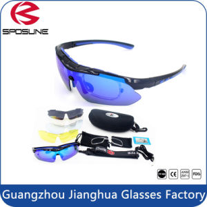 5 Interchangable Lens Set Prescription Cycling Sunglasses with Rx Insert pictures & photos