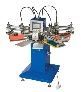 SPF Series 2 Color Automatic Rapid Tag Screen Printing Machine pictures & photos