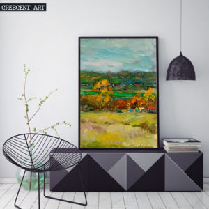 Countryside Watercolor Art Print with Frame pictures & photos