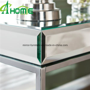 Mirrored Bedside Table with Stainless Legs pictures & photos