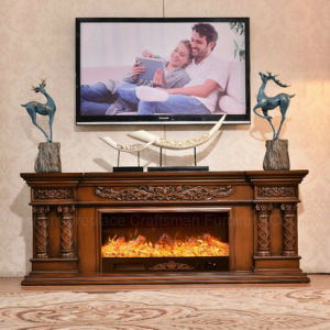 TV Stand Carving European LED Lights Heating Firepalce (320SS) pictures & photos