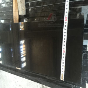 Absolute Natural Black Granite Mongolia Black Polished Tiles and Slabs pictures & photos