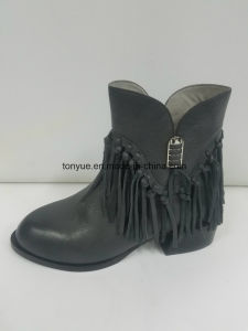Lady Leather Brush Color Restoring Ancient Ways Pointed Ankle Boots pictures & photos