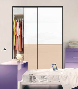 Glossy Sliding Door Wardrobe with Rails (factory directly) pictures & photos