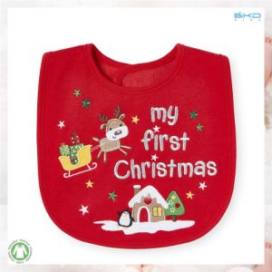 Christmas Baby Products Red Baby Bib pictures & photos