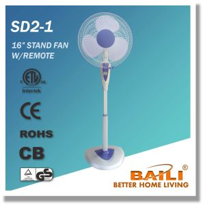 """Good Quality 16"""" Oscillating Stand Fan with Remote Control, LCD Display pictures & photos"""