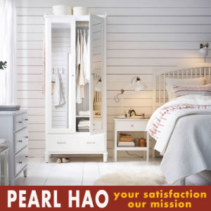 Natural Painting with Mirror Wood Wardrobe pictures & photos