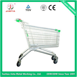 Factory Direct Hand Cart with Coin Lock pictures & photos