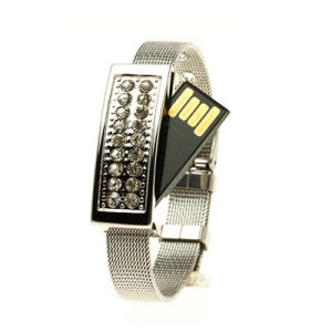 Crystal Jewelry Wrist Band Flash Drive Real Capacity USB Stick pictures & photos