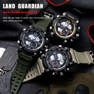 Newest Wrist Hot Selling Two-Movement Watch with Silicone Strap pictures & photos
