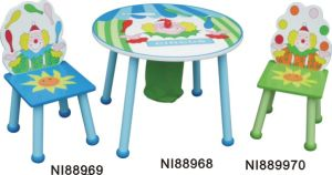 Kids Wooden Table and Chairs Set pictures & photos