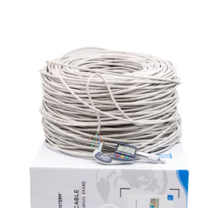 Cat5e 1000ft, UTP 350MHz Solid Riser Rated Cable pictures & photos