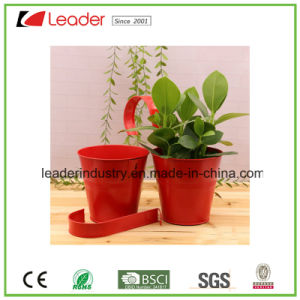 Metal Flowerpots with Hanger for Balcony Fence and Wall Decoration pictures & photos