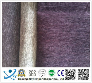 100% Polyester Material Flocking Chenille Furniture Fabric Embossed Velvet Plain Upholstery Sofa Fabric pictures & photos