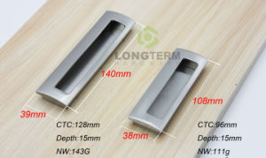 Brushed Satin Nikel Recessed Pull Handle Kitchen Cabinet Hidden Handle pictures & photos