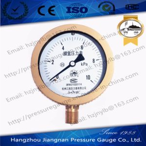 10kpa Capsule Pressure Gauge pictures & photos
