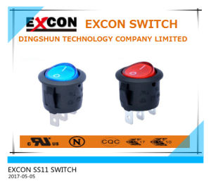 22 Dia Rocker Round Type Switch with 16A on-off Switch