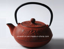 0.6L Cast Iron Teapot in Red Color pictures & photos