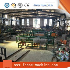 Single Wire Fully Automatic Chain Link Fence Machine pictures & photos