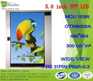 "5.0"" 480*854 MCU 16bit Customized 300CD/M2 Wide View TFT LCD pictures & photos"