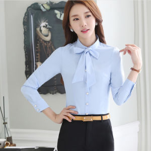Business Women Wear Long Sleeve Formal Shirt of Cotton pictures & photos